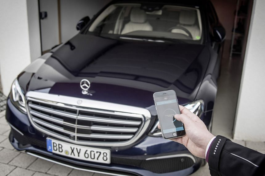 Owners of the new E-Class can use their smartphones as car keys.