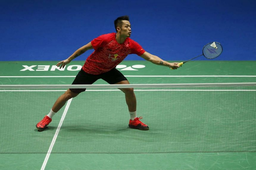 China's Lin Dan during the quarter finals of the Yonex All England Open Badminton Championships.