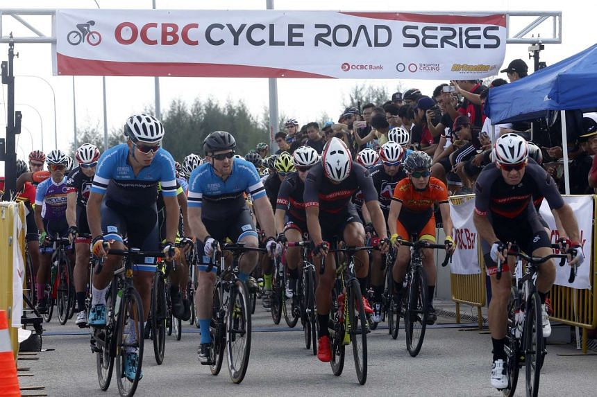 Some 300 road cyclists took part in the inaugural OCBC Cycle Road Race on March 13, 2016.