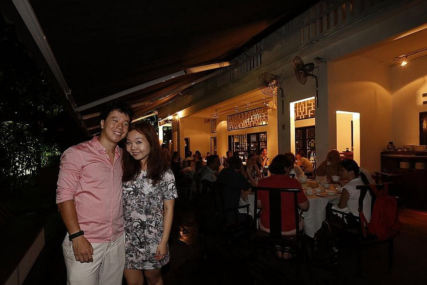 Mr Roy Chan and Ms Joy Chua will hold their wedding dinner at a restaurant in a colonial bungalow, instead of a hotel ballroom, even if it means not being able to invite several of her friends.