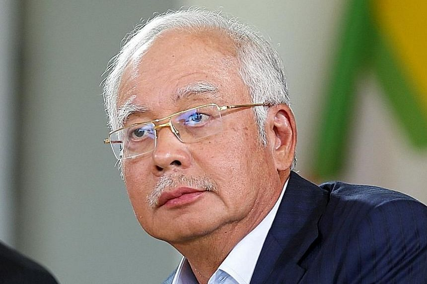 "Malaysian Prime Minister Najib Razak (left) yesterday dismissed Dr Mahathir Mohamad's movement, saying the ""Citizens' Declaration"" did not represent the views of most Malaysians."