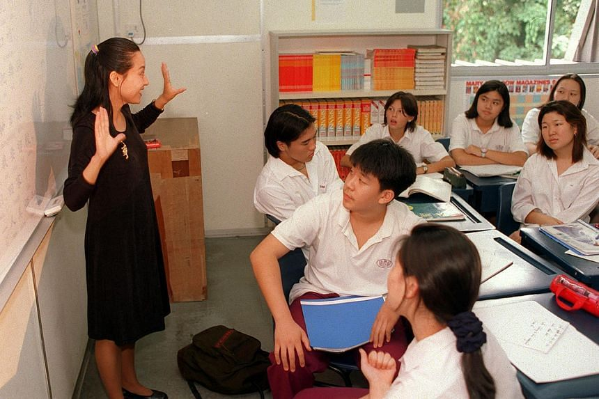 Students attend an Introduction to Mandarin class at the ISS International School.