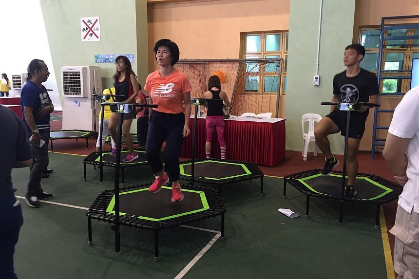 Exercise demonstration at Chas Family Carnival at Choa Chu Kang Community Club on Sunday morning.