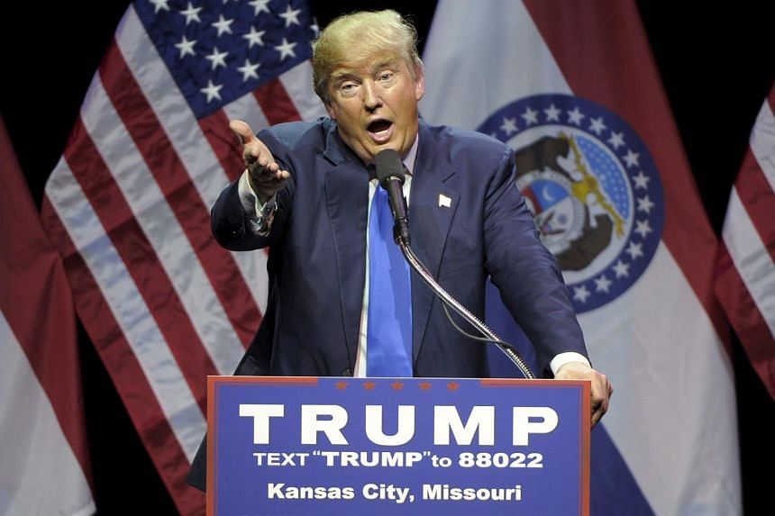 US Republican presidential candidate Donald Trump speaks during a campaign rally in Kansas City, Missouri, on March 12, 2016.