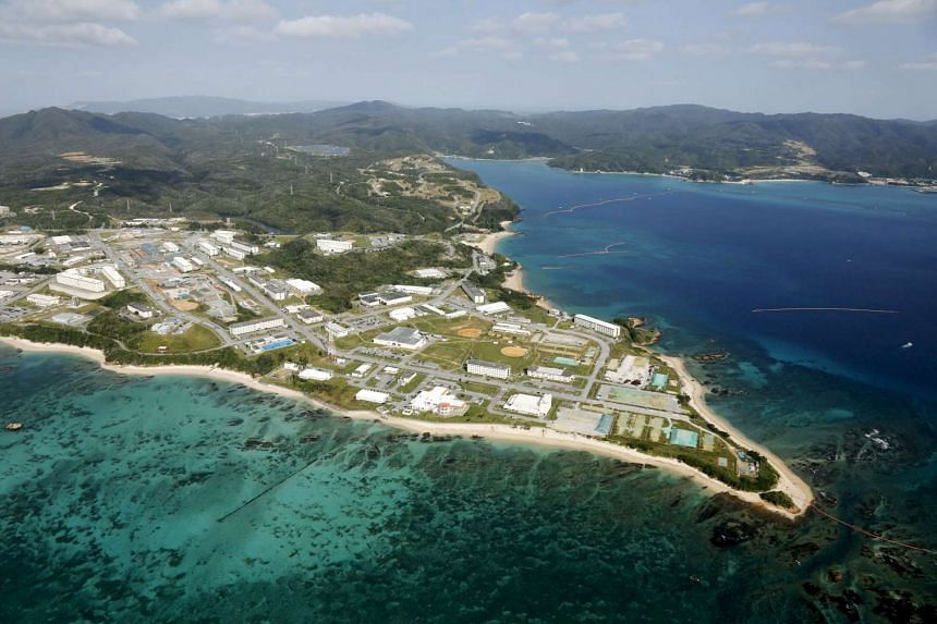 The US Marine base Camp Schwab on the southern Japanese island of Okinawa on Oct 29, 2016.
