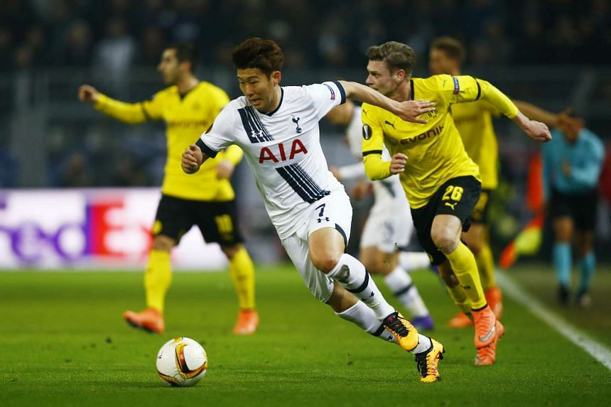 Son Heung Min (foreground) could play a key role in South Korea's Olympic campaign in Rio de Janeiro if he is released by the Premier League.