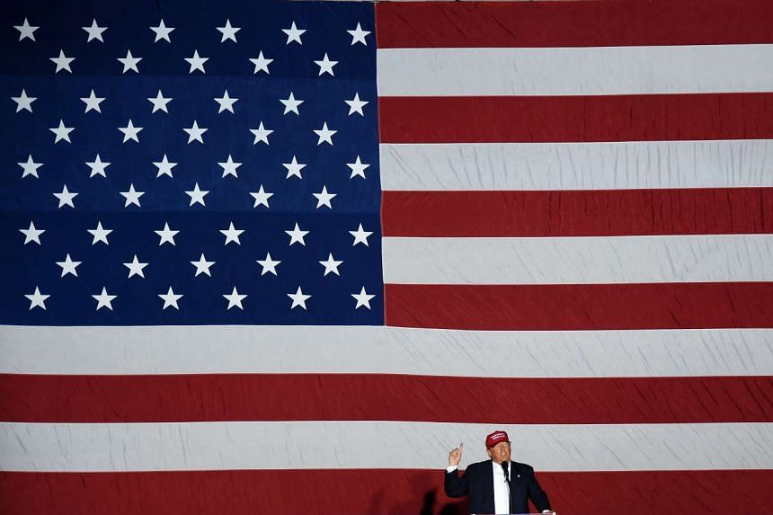 Republican presidential candidate Donald Trump speaks at a rally on March 13, 2016 in Boca Raton, Florida.