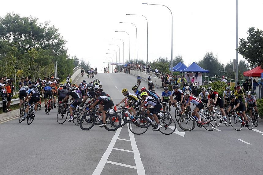 While most participants gave the thumbs-up to the inaugural OCBC Cycle Road Race, some expressed concern at the tight U-turns on the race route, which might have posed a threat to safety.