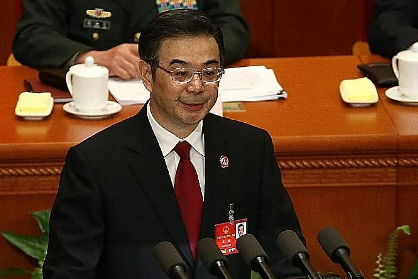 """Chief Justice Zhou said a global hub will also help China implement the national strategy of becoming a """"maritime power""""."""