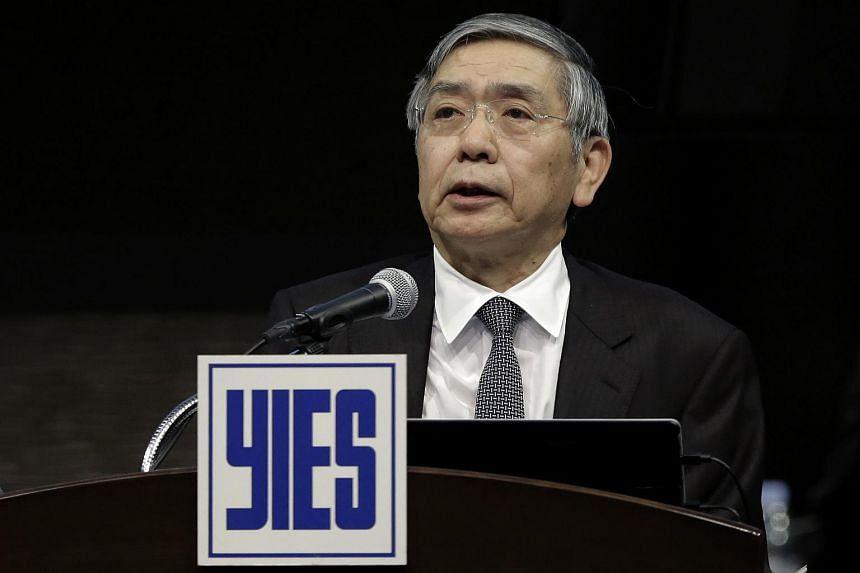Governor of the Bank of Japan (BOJ) Haruhiko Kuroda speaks at the Yomiuri International Economic Society meeting in Tokyo, Japan, on March 7, 2016.