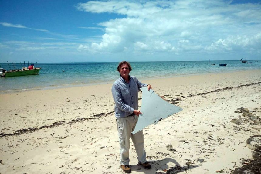Adventurer Blaine Gibson, a 58-year-old lawyer from Seattle, found a piece of plane wreckage off the Mozambique coast in February 2016.