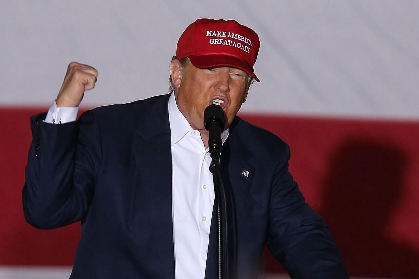 Republican presidential candidate Donald Trump speaks in Boca Raton, Florida, on March 13, 2016.