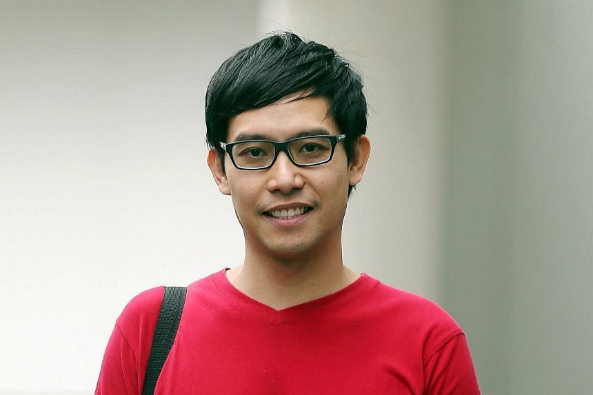 Roy Ngerng photographed outside the State Courts on Oct 7, 2015.