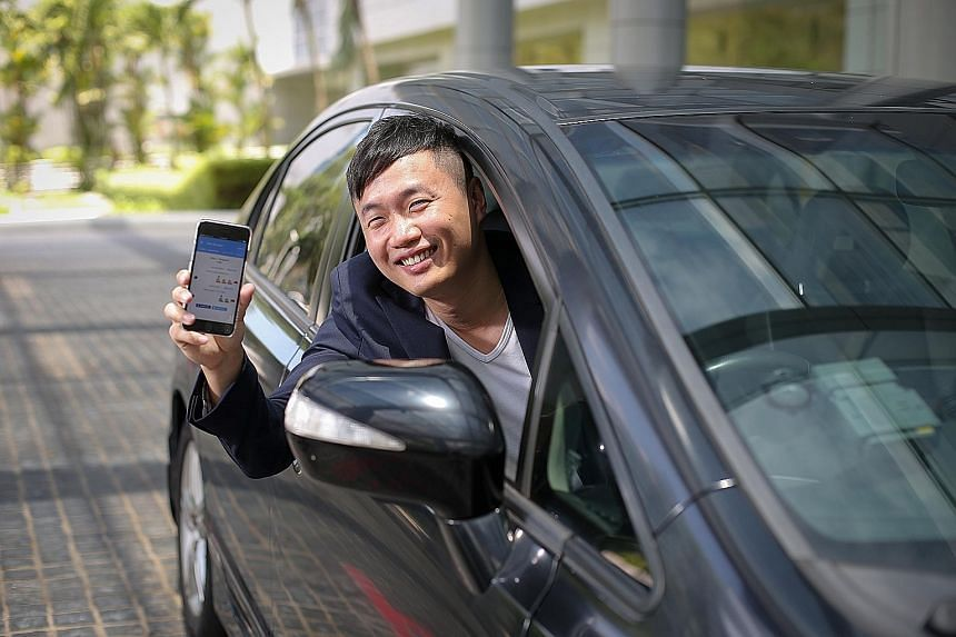 Mr Lak created the app (on phone), which charts traffic trends at the Causeway and Second Link, to help drivers beat the queues.