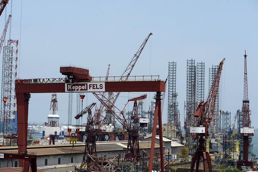 Rigs at Keppel Offshore and Marine.