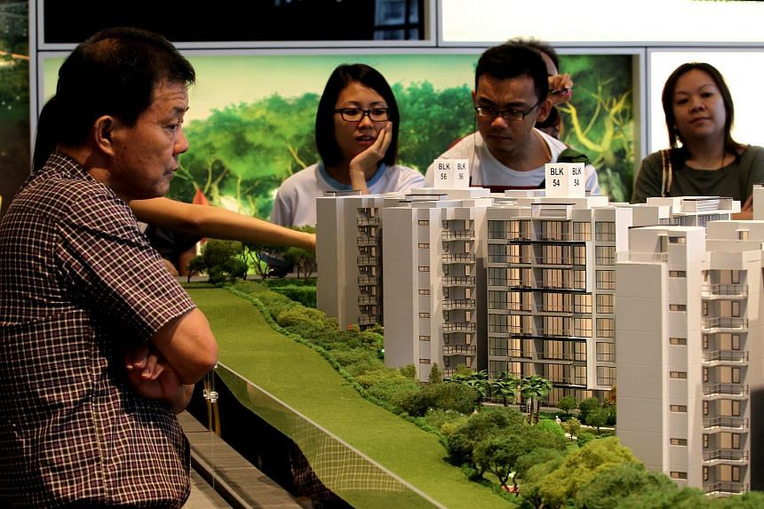 New private home sales fell 22.8 per cent in February from a year earlier.