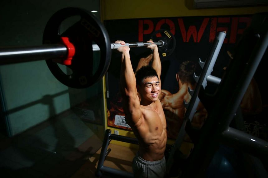 Mr Ong exercises six days a week for up to two hours in the gym each time, but rewards himself about once a fortnight with cheat meals, like zi char dishes.