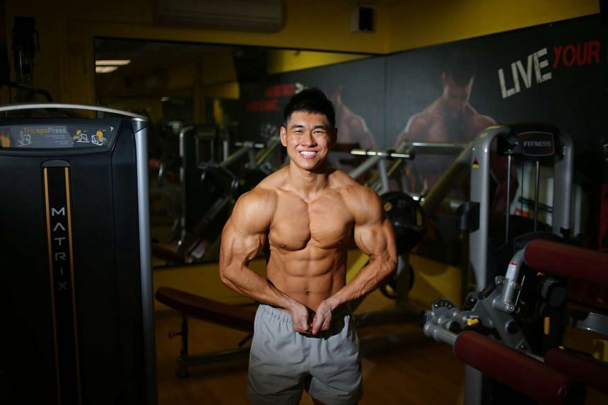 Mr Ong exercises six days a week for up to two hours in the gym each time.
