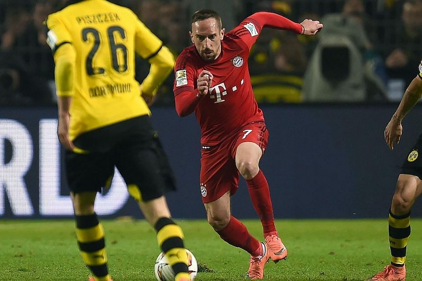 Bayern Munich's Franck Ribery is chomping at the bit to make the team against Juventus and help his side progress.