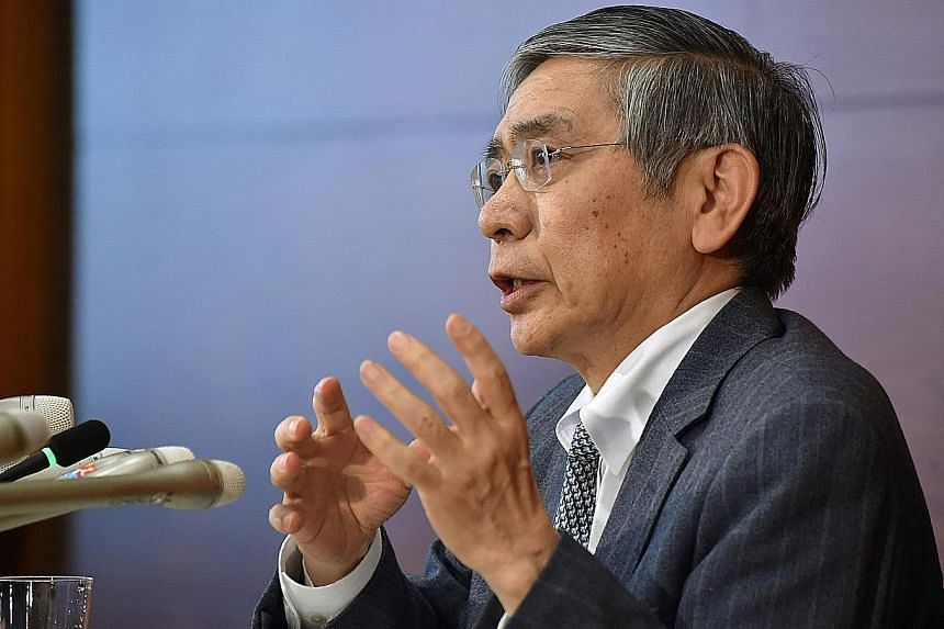 Bank of Japan governor Kuroda and his board kept the target for increasing the monetary base unchanged, and left their benchmark rate at minus 0.1 per cent.