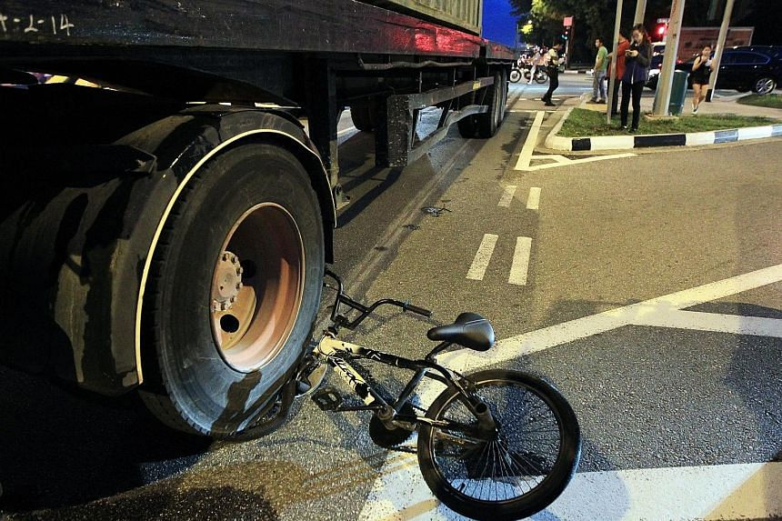 A 16-year-old boy managed to get off the bike and escaped with minor injuries in this accident in October 2014. The number of cyclists injured in accidents has gone up by 17 per cent - from 503 in 2014 to 590 last year. In 2013, 436 were hurt.