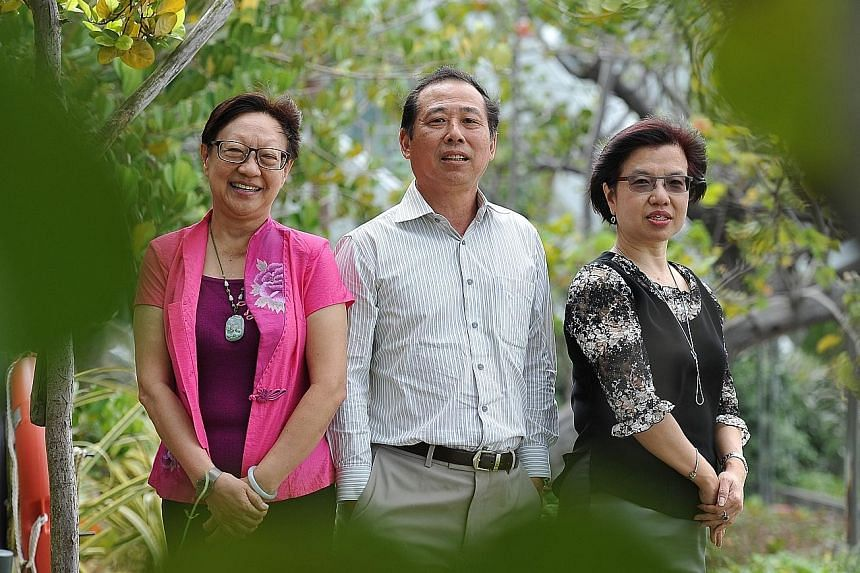 Social work pioneers (from left) NUS senior lecturer Rosaleen Ow, 67, SIM University professor Tan Ngoh Tiong, 61, and Changi General Hospital's Medical Social Services head Goh Soon Noi, 56, were among the 10 people honoured on Social Workers' Day y