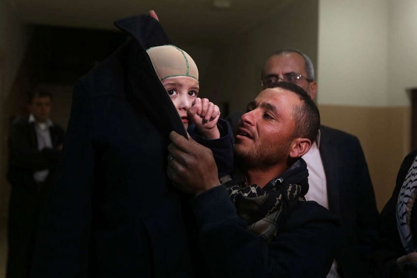 Ahmed Dawabsha is seen before his meeting with the governor of the northern Palestinian town of Nablus on March 15, 2016.