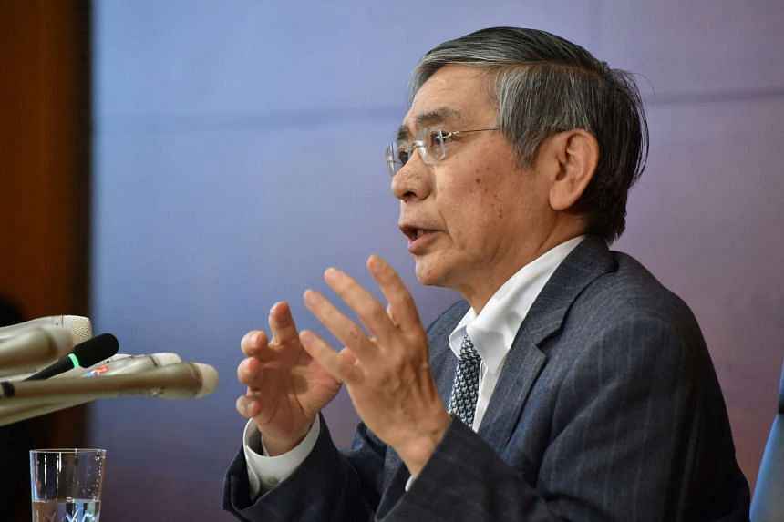 Bank of Japan Governor Haruhiko Kuroda speaking during a press conference in Tokyo on March 15, 2016.
