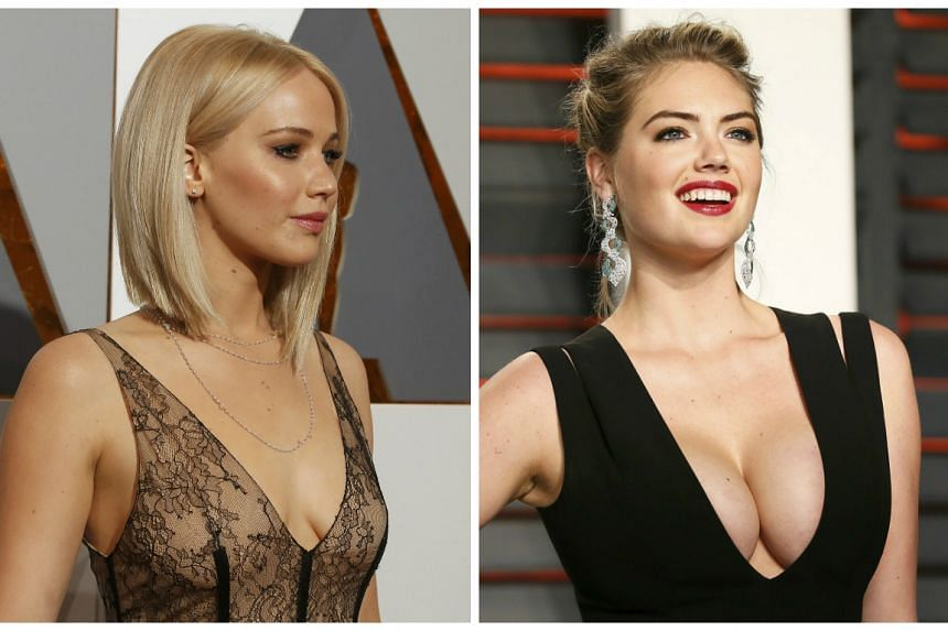 Jennifer Lawrence (left) and Kate Upton were among the victims.