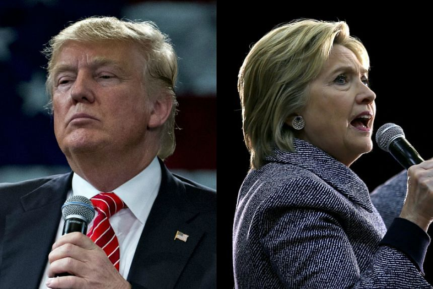 Republican Donald Trump (left) and Democrat Hillary Clinton are currently leading in the Florida primary.