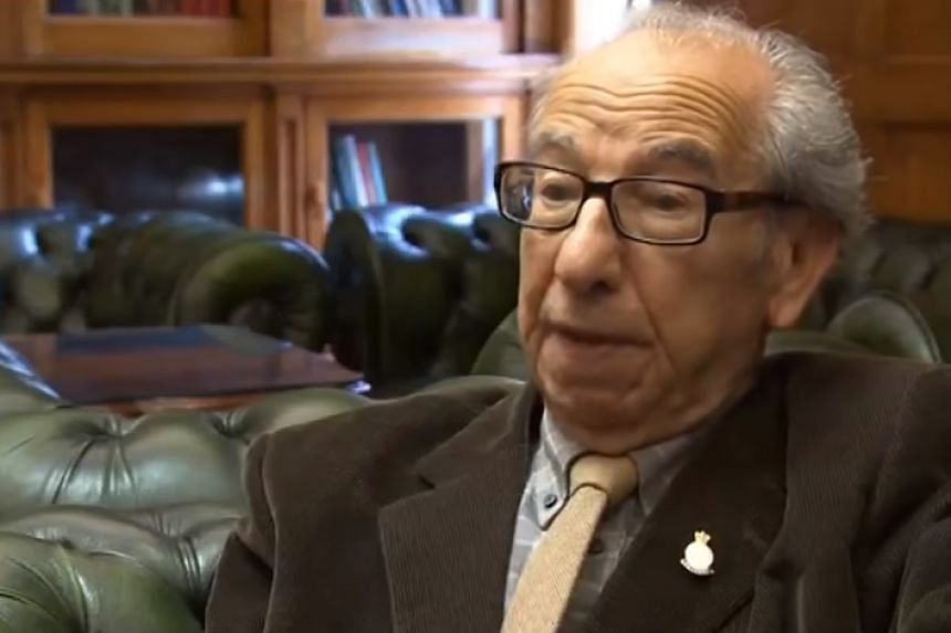 Harry Shindler in a screenshot from an online interview about the issue.