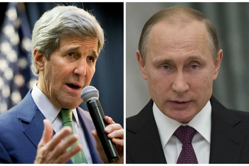 Kerry (left) will discuss the Syria crisis with Putin (right).