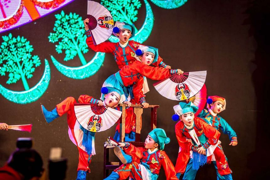 Children aged five to nine from Sheng Hong Arts Institute will perform a dance set to Chinese operatic music this Saturday.
