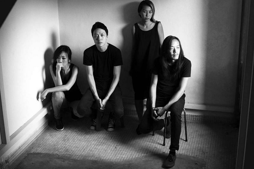 The Observatory, comprising (from left) Vivian Wang, Yuen Chee Wai, Cheryl Ong and Leslie Low, will launch their new album at The Substation this weekend.