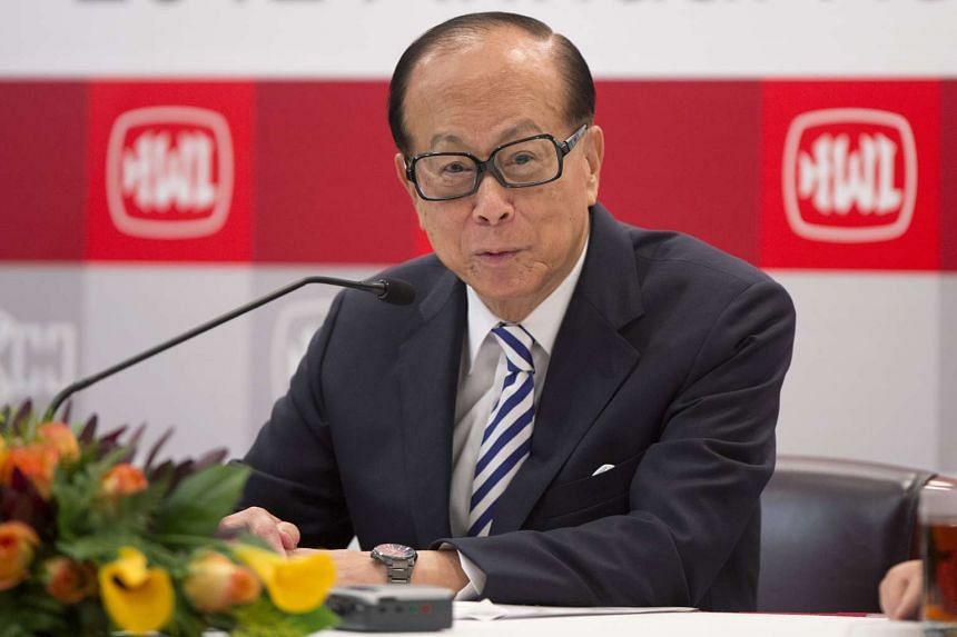 Hong Kong billionaire Li Ka Shing in 2013.