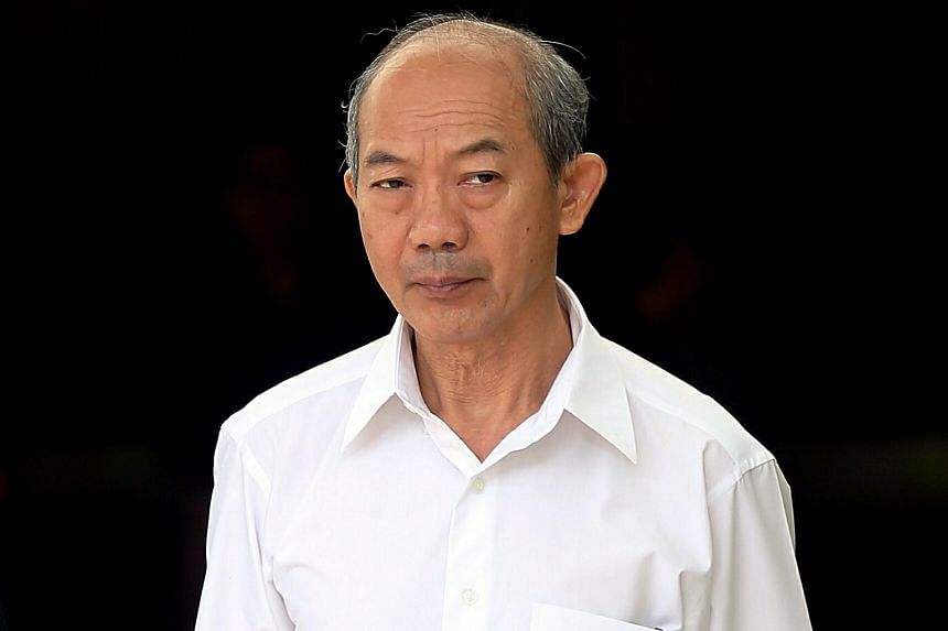 Wong Sin Peng leaving the State Courts after he was acquitted.