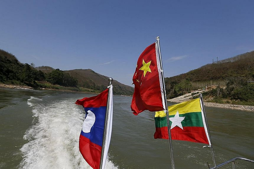 Laos, China and Myanmar conduct monthly joint patrols along the Mekong River. Some areas along the river are controlled by armed rebels.