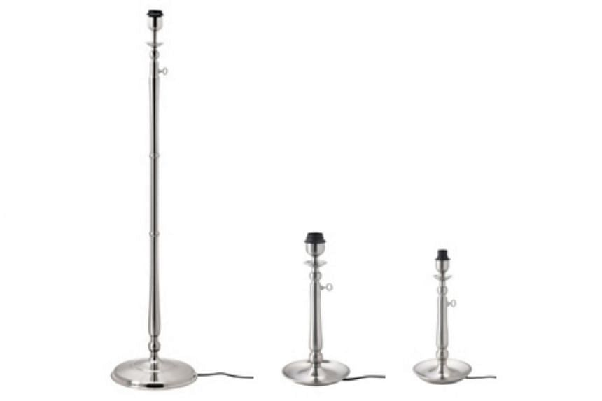 Ikea's Gothem lamp bases (pictured) are being recalled after they were found to have caused electric shocks.