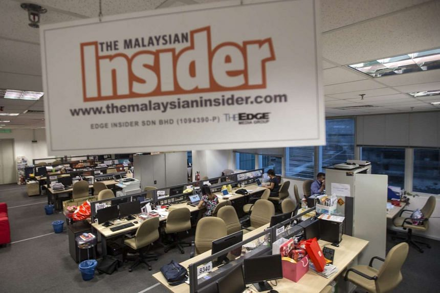 The Malaysian Insider office in Petaling Jaya on March 14.
