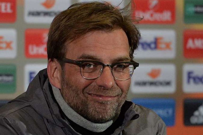 Liverpool's German manager Jurgen Klopp at the press conference at Old Trafford on March 16, 2016.