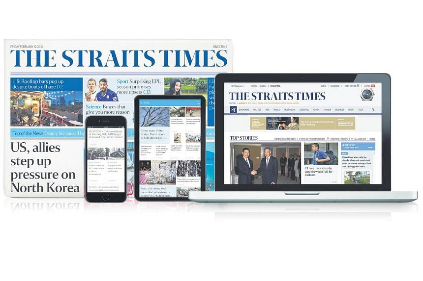 Experience the full print and digital offerings from The Straits Times with the All-in-One package.