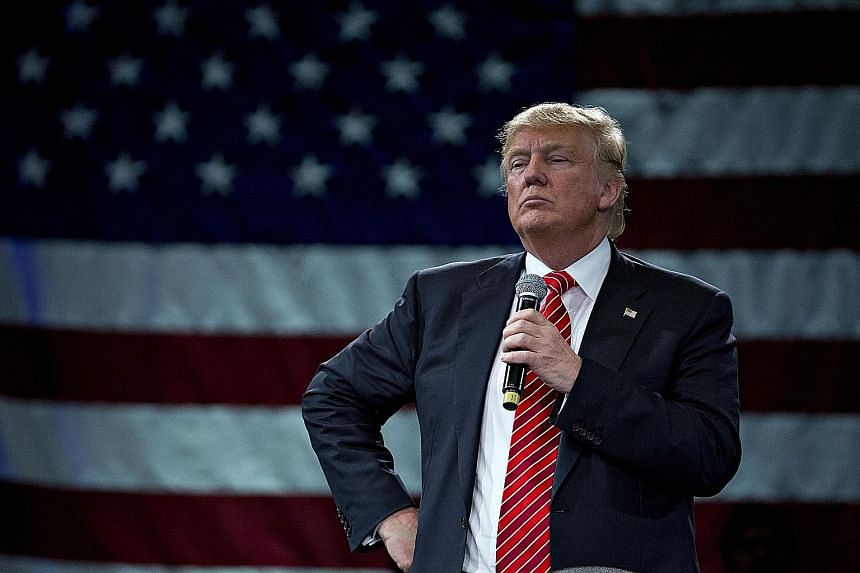 Billionaire Donald Trump at a town hall event in Tampa, Florida, on Monday. In the latest version of its Global Risk assessment, the Economist Intelligence Unit ranked a White House victory for the Republican front runner at 12 alongside the threat o