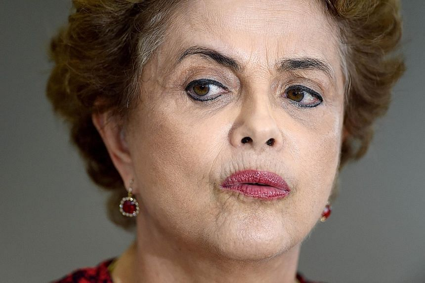 Ms Rousseff (left) is betting on Mr Lula to save her as she faces an impeachment attempt, a deep recession, mass protests and the scandal at state oil giant Petrobras.