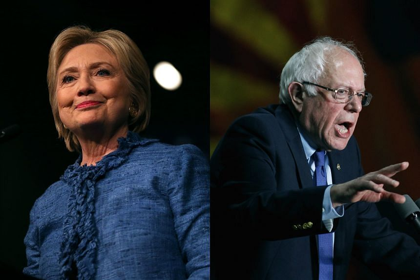Senator Bernie Sanders (right) has conceded defeat to rival Hillary Clinton in the Missouri Democratic presidential primary.