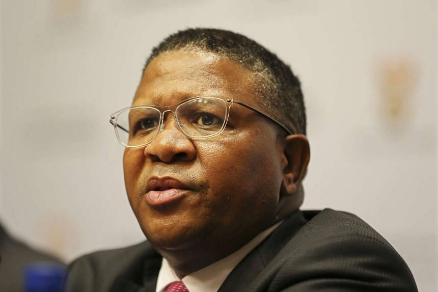 South African Sports Minister Fikile Mbalula at the Parliament in Cape Town, South Africa, on March 17, 2016.