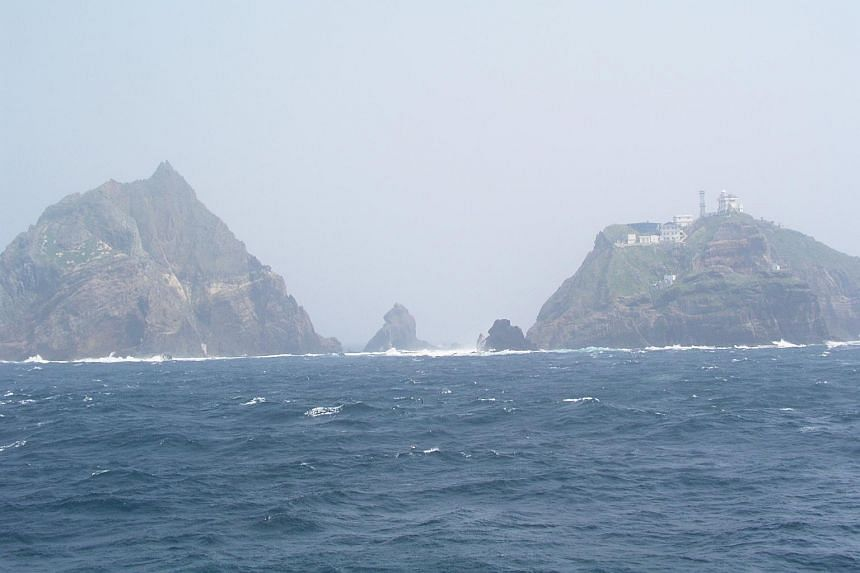 The Dokdo islets, known as Takeshima in Japan.