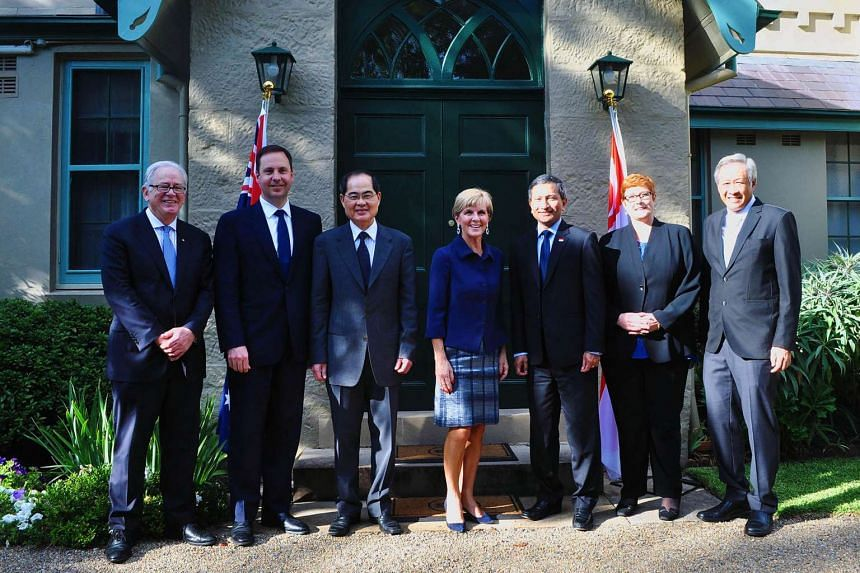 Singapore ministers with their Australian counterparts in the ninth Singapore-Australia Joint Ministerial Committee (SAJMC) meeting in Sydney.