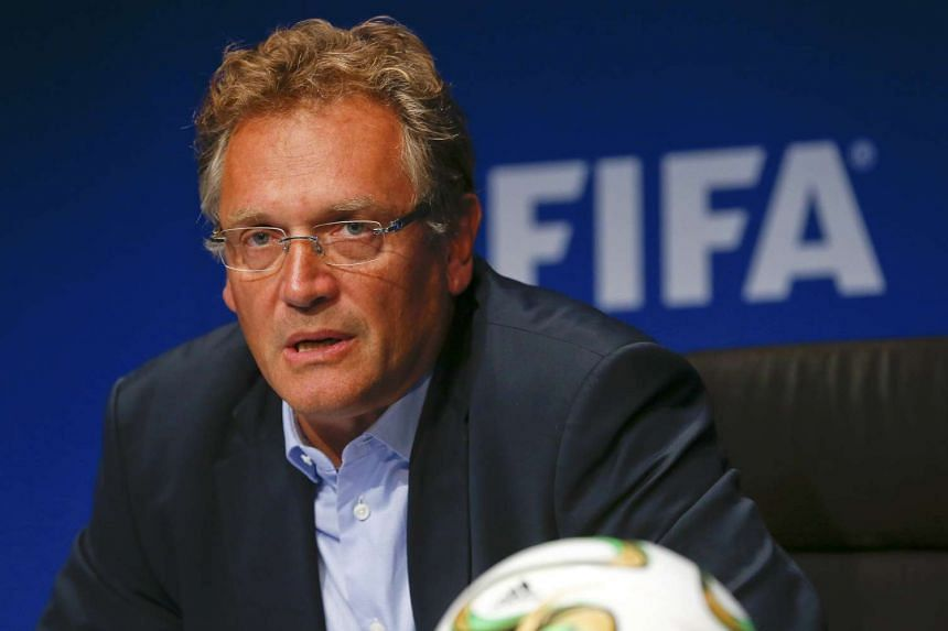 Former Fifa secretary-general Jerome Valcke addressing a news conference in a 2014 file photo.