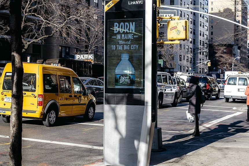 A LinkNYC Wi-Fi unit, partially financed by Sidewalk Labs, in New York. The United States' Transportation Department has been prodding cities towards using more technology and has partnered Sidewalk through its Smart City competition to create a soft