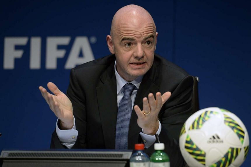 Fifa president Gianni Infantino at a press conference in Zurich, Switzerland, on March 18.